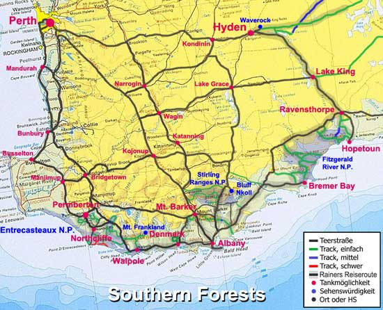 Mud Map: Southern Forests
