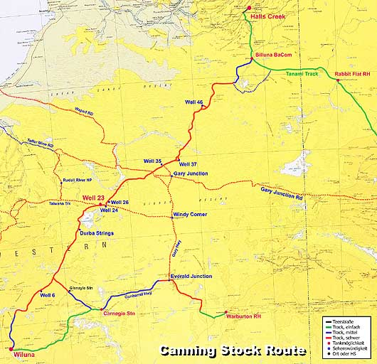 MudMap: canning Stock Route