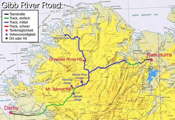 Gibb River Road MudMap