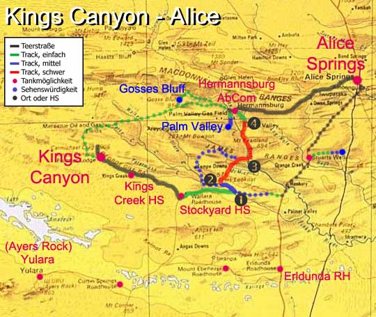 MudMap: Kings Canyon - Alice Springs