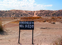 West-Auffahrt der Big Red, QLD